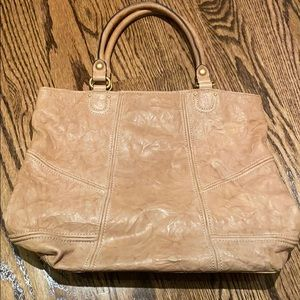 Juicy Couture brown leather tote